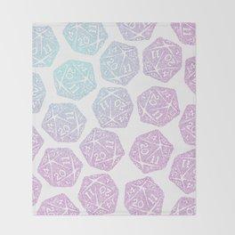 d20 pattern dice gradient pastel Throw Blanket