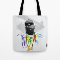 notorious big Tote Bags featuring Notorious by Tecnificent
