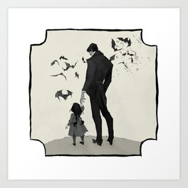 Father Daughter Time Art Print
