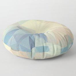 Abstract polygonal 2 Floor Pillow