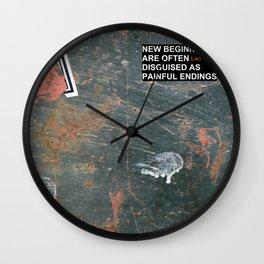 New Beginnings! Wall Clock