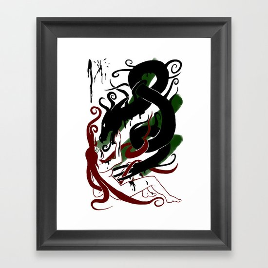 The Better Demons of our Nature Framed Art Print