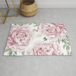 Beautiful Pink Roses Garden Rug