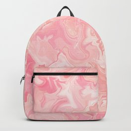 Blush pink abstract watercolor marble pattern Backpack