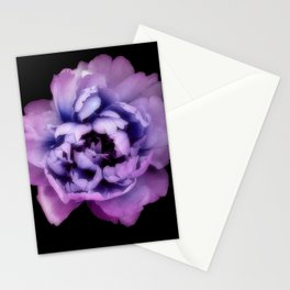 Indulgent Darkness, Violet Peony Stationery Cards