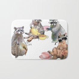 Racoon Tea Party Bath Mat