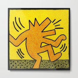 Keith Haring Dancing Dog Metal Print