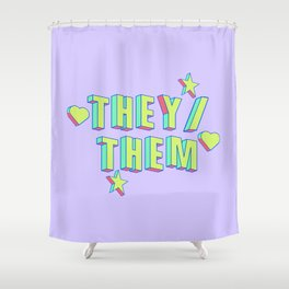 They/Them Shower Curtain