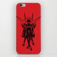 gundam iPhone & iPod Skins featuring Gundam Black by deeviousgenius
