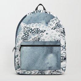 Dreamer Mandala Half Blue Backpack