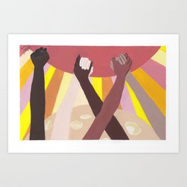 Together We Rise Art Print
