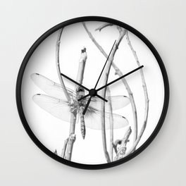 """Dragonfly 11"" by Murray Bolesta Wall Clock"