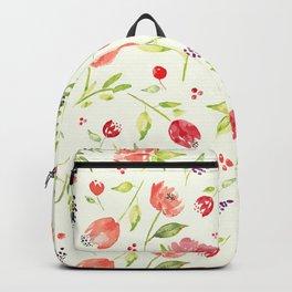 Watercolor Rose Garden Backpack