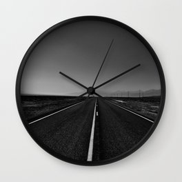 The lonely road. A journey along highway 376. Wall Clock
