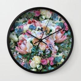 Romantic flowers II Wall Clock