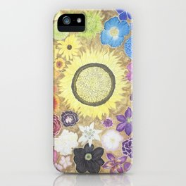 Rainbow of flowers iPhone Case