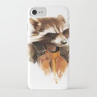 rocket raccoon iPhone & iPod Cases featuring Rocket by cos-tam