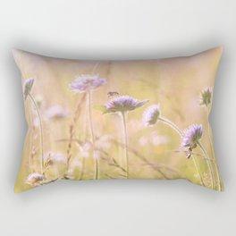 Purple Wildflowers Rectangular Pillow