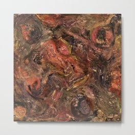 Acrylic Abstract Textured Painting , By Annette Forlenza Metal Print