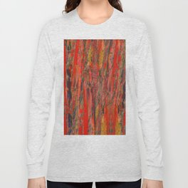 lines of red yellow Long Sleeve T-shirt