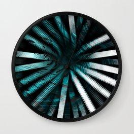 Circular Lines-Aqua Wall Clock