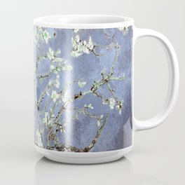 Vincent Van Gogh Almond Blossoms : Steel Blue & Gray Coffee Mug