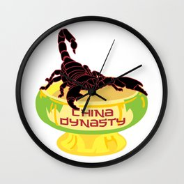 China Dynasty Scorpion Bowl Wall Clock