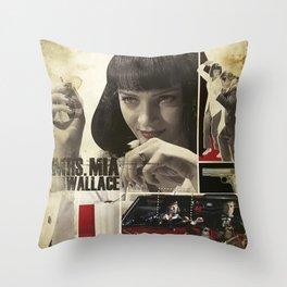 Pulp Fiction Mia Throw Pillow