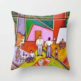 African American Masterpiece 'The Time of Your Life' by Beauford Delaney Throw Pillow