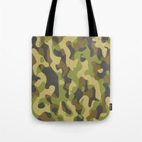military Tote Bags featuring Military Pattern by Crazy Thoom