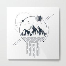 Mountains. Geometric Style Metal Print