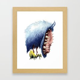 THE WOLF AND LAMB Framed Art Print