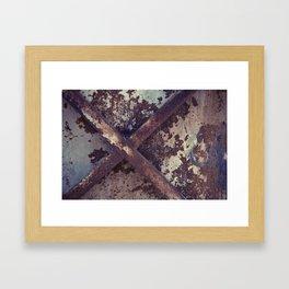 Rusty Metal Cross Framed Art Print