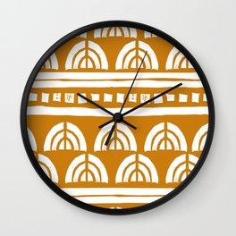 Tribal Rainbows Wall Clock