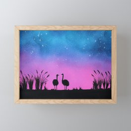 Ostrich Silhouette Framed Mini Art Print