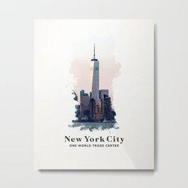New York City One World Trade Metal Print
