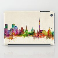 russia iPad Cases featuring Moscow Russia Skyline by artPause