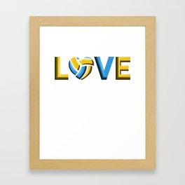 LOVE VOLLEYBALL BEACHVOLLEYBALL GIFT Framed Art Print