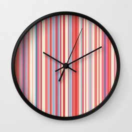 Stripe obsession color mode #3 Wall Clock