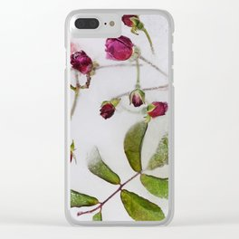 Frozen roses Clear iPhone Case
