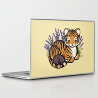platypus Laptop & iPad Skins featuring Loafing Tiger, Hidden Platypus by Spoopy Surprise
