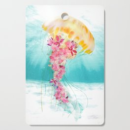 Jellyfish with Flowers Cutting Board