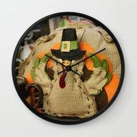 turkey Wall Clocks featuring Turkey Time by IowaShots