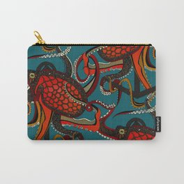 octopus ink teal Carry-All Pouch