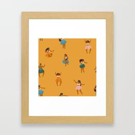 Hula party Framed Art Print