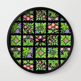 Tudor Flower Parterre Wall Clock