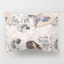 Hygge Girl Pattern Pillow Sham