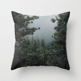 Backwoods Winter: Ponderosa Pines, Washington Throw Pillow