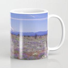 Mt Hood Oregon in Wildflowers Coffee Mug