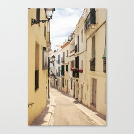 streets of sitges Canvas Print